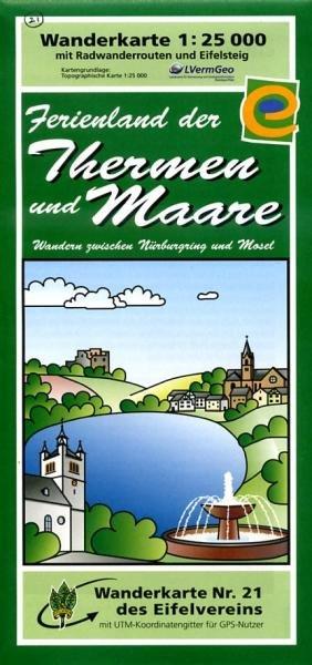 EV-21  Ulmen, Ferienland der Therme und Maare | wandelkaart 1:25.000 9783921805695  Eifelverein Wandelkaarten Eifel  Wandelkaarten Eifel