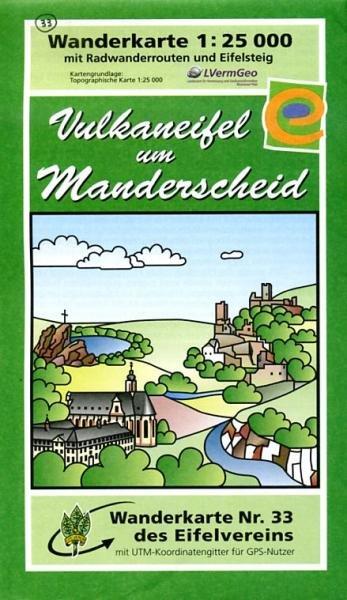 EV-33  Vulkaneifel um Manderscheid | wandelkaart 1:25.000 9783921805701  Eifelverein Wandelkaarten Eifel  Wandelkaarten Eifel, Moezel, Rheinland-Pfalz