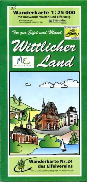 EV-24  Wittlicher Land | wandelkaart 1:25.000 9783921805831  Eifelverein Wandelkaarten Eifel  Wandelkaarten Eifel, Moezel, Rheinland-Pfalz