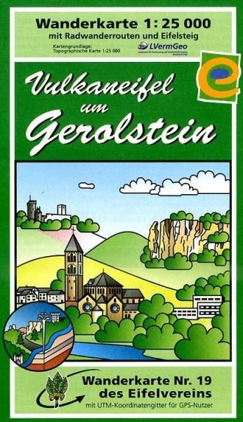 EV-19  Vulkaneifel um Gerolstein | wandelkaart 1:25.000 9783921805862  Eifelverein Wandelkaarten Eifel  Wandelkaarten Eifel, Moezel, Rheinland-Pfalz