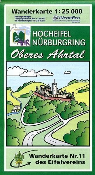 EV-11  Hocheifel/Oberes Ahrtal | wandelkaart 1:25.000 9783921805923  Eifelverein Wandelkaarten Eifel  Wandelkaarten Eifel, Moezel, Rheinland-Pfalz