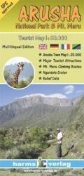 Mount Arusha / Mount Meru 9783927468276  Harms   Wandelkaarten Tanzania, Zanzibar