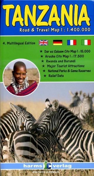 Tanzania 1:1.400.000 9783927468320  Harms   Landkaarten en wegenkaarten Tanzania, Zanzibar