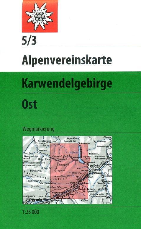 AV-05/3 Karwendel Ost [2013] Alpenvereinskarte wandelkaart 9783928777094  AlpenVerein Alpenvereinskarten  Wandelkaarten Tirol & Vorarlberg