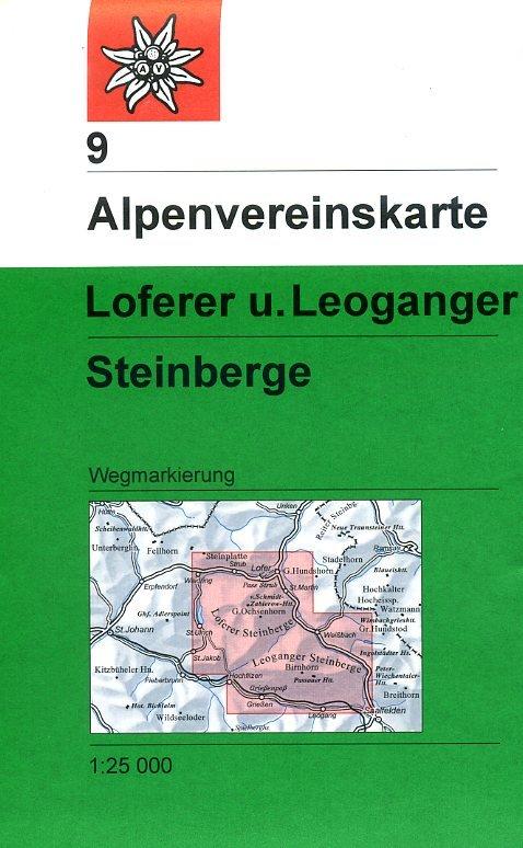 AV-09  Loferer und Leoganger Steinberge [2018] Alpenvereinskarte wandelkaart 9783928777247  AlpenVerein Alpenvereinskarten  Wandelkaarten Salzburg, Karinthë, Tauern, Stiermarken