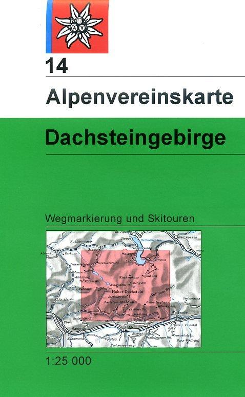 AV-14 Dachstein 1:25.000 [2012] Alpenvereinskarte wandelkaart 9783928777278  AlpenVerein Alpenvereinskarten  Wandelkaarten Salzburg, Karinthë, Tauern, Stiermarken