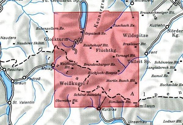 AV-30/2 Ötztaler Alpen/Weisskugel [2013] Alpenvereinskarte wandelkaart 9783928777391  AlpenVerein Alpenvereinskarten  Wandelkaarten Tirol & Vorarlberg