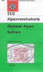 AV-31/2 Stubaier Alpen/Sellrain [2016] Alpenvereinskarte wandelkaart 9783928777735  AlpenVerein Alpenvereinskarten  Wandelkaarten Tirol & Vorarlberg