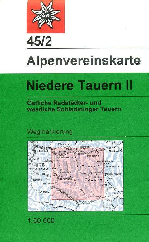 AV-45/2 Niedere Tauern II [2016] Alpenvereinskarte wandelkaart 9783928777810  AlpenVerein Alpenvereinskarten  Wandelkaarten Salzburg, Karinthë, Tauern, Stiermarken