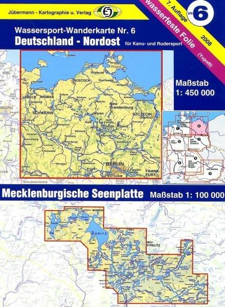 Teil 6  Deutschland Nordost 1:450.000 9783929540161  DKV/Jübermann Wassersp. 1:550.000  Watersportboeken Mecklenburg-Vorpommern, Rügen