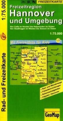 Hannover und Umgebung 1:75.000 9783933671967  GeoMap   Fietskaarten Lüneburger Heide, Hannover, Weserbergland