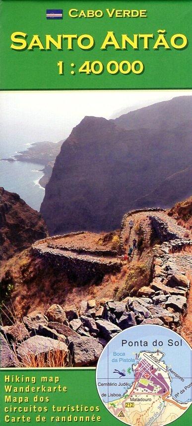 Santo Antão (Santo Antao) 1:40.000 wandelkaart 9783934262232  AB Karten Verlag   Wandelkaarten Kaapverdische Eilanden
