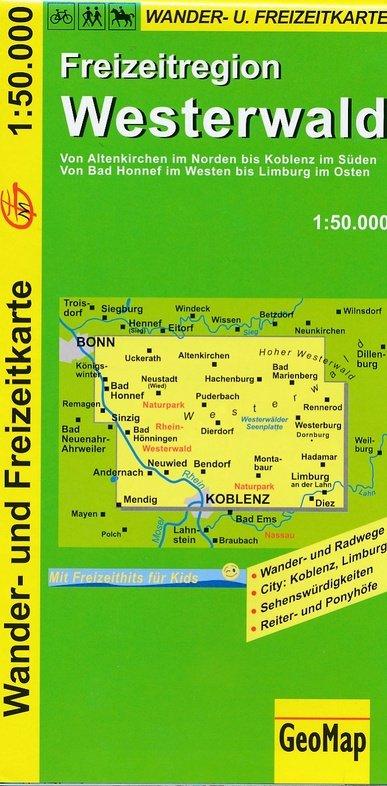Westerwald 1:50.000 9783936184495  GeoMap   Wandelkaarten Mittelrhein, Loreley, Westerwald
