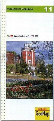 NRW-11 Wuppertal und Umgebung | wandelkaart 1:25.000 9783936184785  Geomap / LVA NRW Grüne Reihe  Wandelkaarten Niederrhein, Ruhrgebied, Keulen