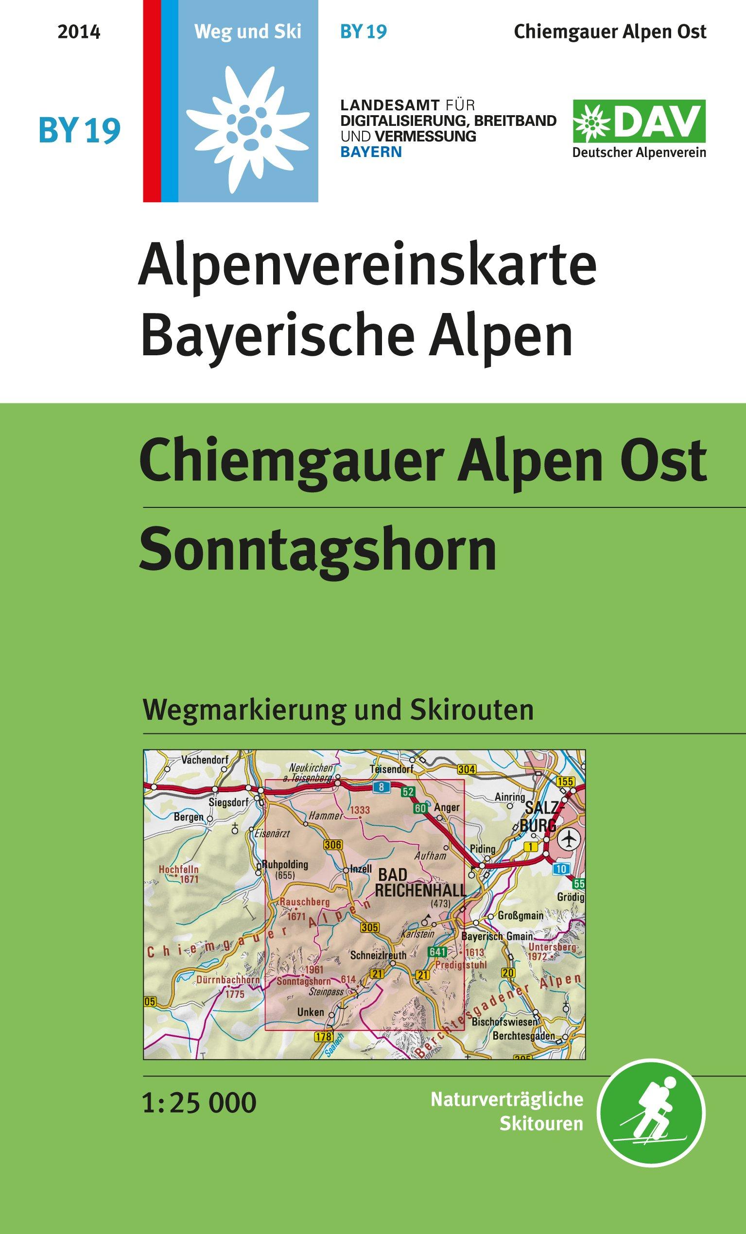 BY-19 Chiemgau-Ost 1:25.000 Alpenvereinskarte 9783937530246  Deutscher AlpenVerein Alpenvereinskarten  Wandelkaarten Beierse Alpen en München