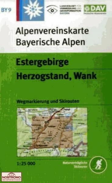 BY-09 Estergebirge, Herzogstand, Wank 1:25.000 Alpenvereinskarte 9783937530321  Deutscher AlpenVerein Alpenvereinskarten  Wandelkaarten Beierse Alpen