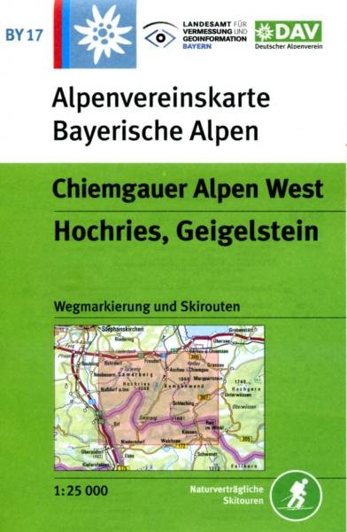 BY-17 Chiemgauer Alpen West, Alpenvereinskarte 9783937530352  Deutscher AlpenVerein Alpenvereinskarten  Wandelkaarten Beierse Alpen en München