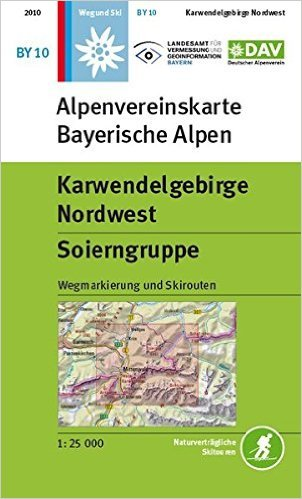 BY-10 Karwendelgebirge Nordwest 1:25.000 Alpenvereinskarte 9783937530383  Deutscher AlpenVerein Alpenvereinskarten  Wandelkaarten Beierse Alpen