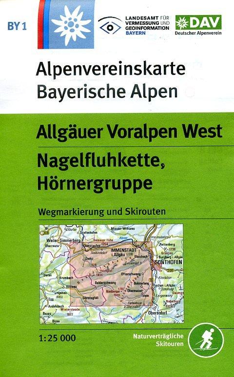 BY-01  Algäuer Voralpen West   Alpenvereinskaart 9783937530413  Deutscher AlpenVerein Alpenvereinskarten  Wandelkaarten Beierse Alpen en München