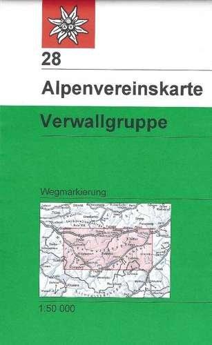 AV-28  Verwallgruppe [2010] Alpenvereinskarte wandelkaart 9783937530543  AlpenVerein Alpenvereinskarten  Wandelkaarten Tirol & Vorarlberg