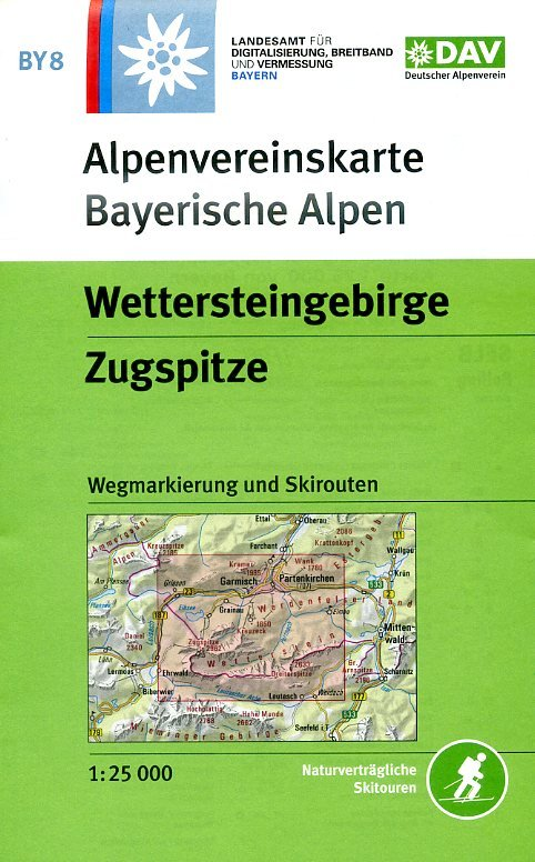 BY-08 Wettersteingebirge, Zugspitze 1:25.000 Alpenvereinskarte 9783937530635  Deutscher AlpenVerein Alpenvereinskarten  Wandelkaarten Beierse Alpen