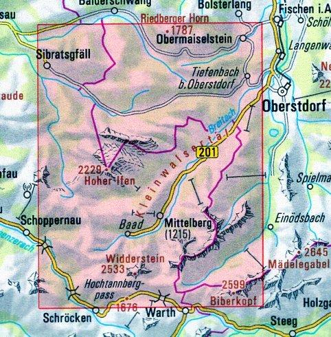 BY-02 Kleinwalsertal, Hoher Ifen, Wilderstein 1:25.000 Alpenvereinskarte 9783937530727  Deutscher AlpenVerein Alpenvereinskarten  Wandelkaarten, Wintersport Beierse Alpen en München