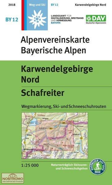 BY-12 Karwendelgebirge Nord 1:25.000 Alpenvereinskarte 9783937530819  Deutscher AlpenVerein Alpenvereinskarten  Wandelkaarten Beierse Alpen en München