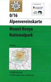 AV-0/16  Moun Kenya National Park 1:50.000 / 100.000 9783937530857  AlpenVerein Alpenvereinskarten  Wandelkaarten Kenia