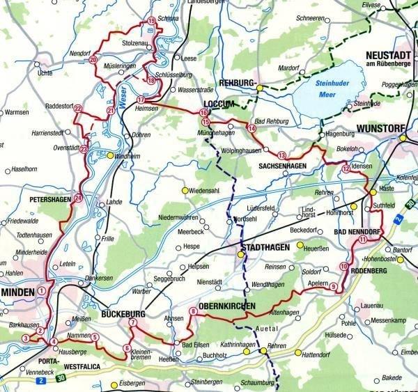 Pilgerführer Sigwardsweg (1:50.000) 9783941177215  LVA Niedersachsen   Wandelgidsen Teutoburger Woud & Ostwestfalen