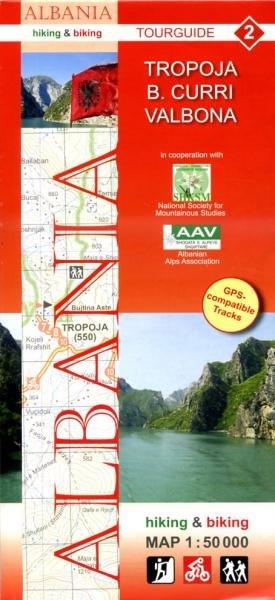 HA-02  Tropoja, B.Curri, Valbona | wandelkaart 9783943752076  Huber Verlag Albanië 1:50.000  Wandelkaarten Albanië