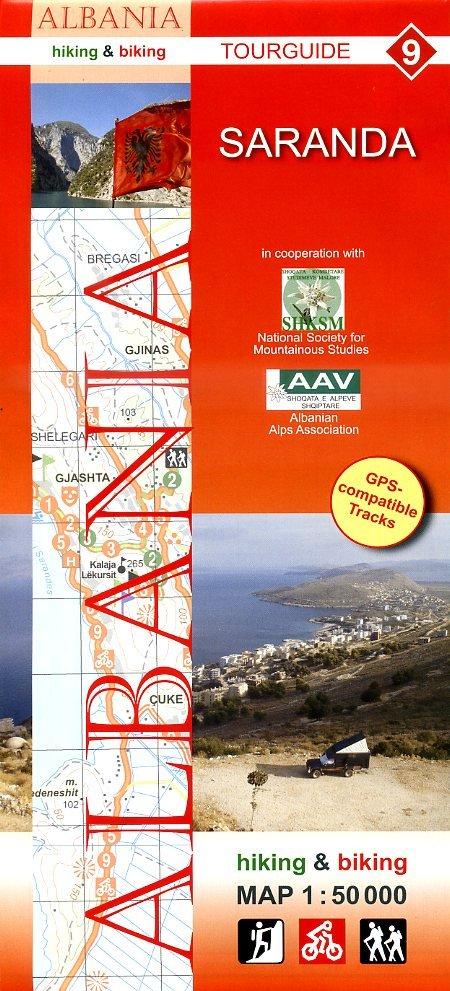 HA-09  Saranda | wandelkaart 9783943752151  Huber Verlag Albanië 1:50.000  Wandelkaarten Albanië