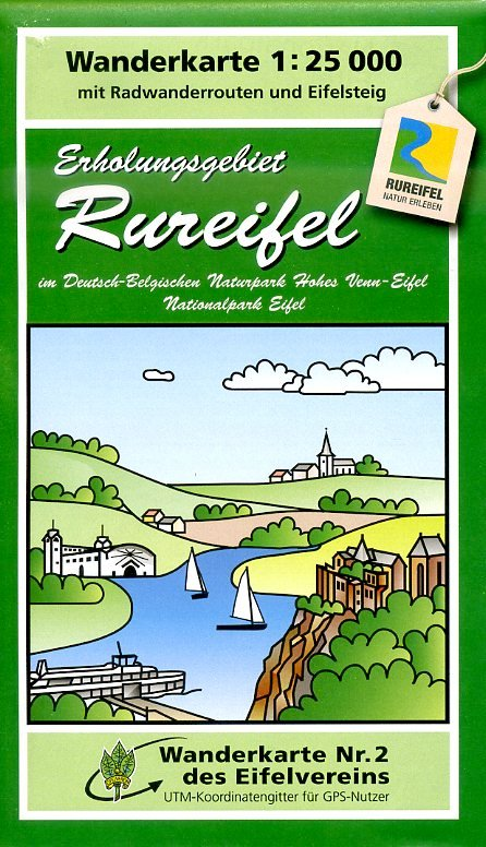 EV-02  Erholungsgebiet Rureifel, Düren | wandelkaart 1:25.000 9783944620039  Eifelverein Wandelkaarten Eifel  Wandelkaarten Aken, Keulen en Bonn, Eifel
