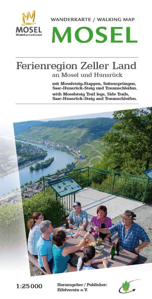 EV-36 Ferienregion Zeller Land | wandelkaart 1:25.000 9783944620121  Eifelverein Wandelkaarten Eifel  Wandelkaarten Eifel, Moezel, Rheinland-Pfalz