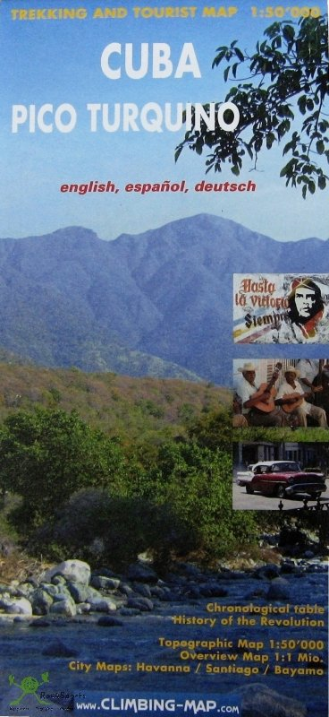 Pico Turquino 1:50.000 9783952329443 Sandra Greulich, Sacha Wettstein Climbing-Map   Wandelkaarten Cuba