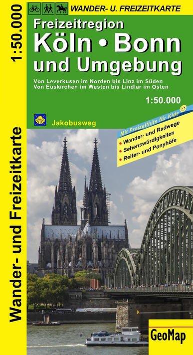 Köln, Bonn und Umgebung 1:50.000 9783959650021  GeoMap   Wandelkaarten Niederrhein, Ruhrgebied, Keulen