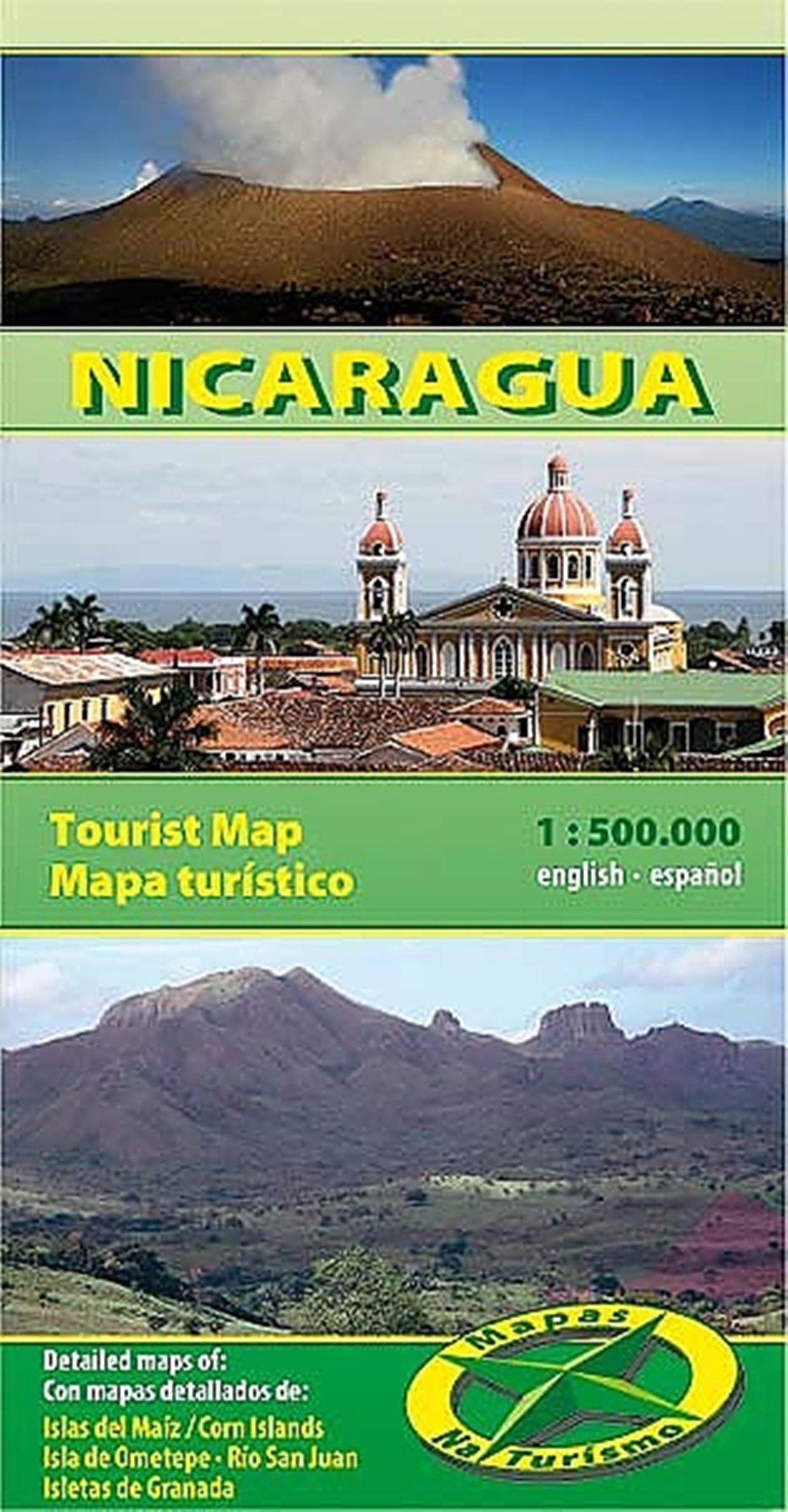 Nicaragua 1:500.000 9783981126907  Mapas Naturismo   Landkaarten en wegenkaarten Overig Midden-Amerika