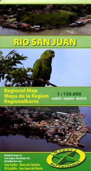 Rio San Juan 1:150.000 9783981126976  Mapas Naturismo   Landkaarten en wegenkaarten Costa Rica, Overig Midden-Amerika
