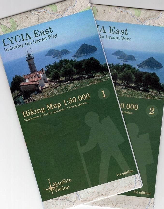 Lycia East (Lycische Kust - oost) 1:50.000 9783981721607  MapSite Verlag   Wandelkaarten, Meerdaagse wandelroutes Turkse Riviera, overig Turkije