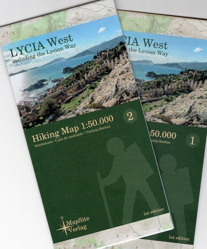Lycia West (Lycische Kust - west) 1:50.000 9783981721614  MapSite Verlag   Meerdaagse wandelroutes, Wandelkaarten Turkse Riviera, overig Turkije