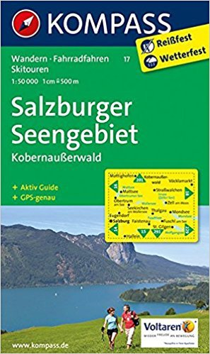 KP-17 Salzburger Seengebiet   Kompass wandelkaart 9783990440247  Kompass Wandelkaarten Kompass Oostenrijk  Wandelkaarten Salzburg, Karinthië, Tauern, Stiermarken