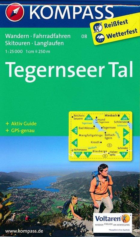 KP-08 Tegernseer Tal | Kompass wandelkaart 9783990440728  Kompass Wandelkaarten   Wandelkaarten Beierse Alpen en München