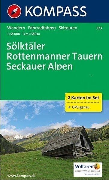 KP-223   Sölktäler - Rottenmanner Tauern - Seckauer Alpen 1:50.000 | Kompass wandelkaart 9783990442388  Kompass Wandelkaarten   Wandelkaarten Salzburg, Karinthë, Tauern, Stiermarken