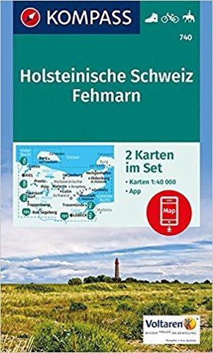KP-740 NP Holsteinische Schweiz | Kompass wandelkaart 9783990442418  Kompass Wandelkaarten Kompass Duitsland  Wandelkaarten Schleswig-Holstein, Lübeck