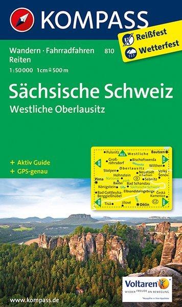 KP-810  Sächsische Schweiz | Kompass wandelkaart * 9783990442500  Kompass Wandelkaarten Kompass Duitsland  Wandelkaarten Erzgebirge, Elbsandsteingebirge, Lausitz