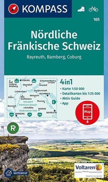 KP-165  Nördliche Fränkische Schweiz | Kompass wandelkaart 9783990442630  Kompass Wandelkaarten Kompass Duitsland  Wandelkaarten Franken, Nürnberg, Altmühltal