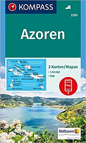KP-2260 Azoren 1:50.000 | Kompass wandelkaart 9783990442678  Kompass Wandelkaarten   Wandelkaarten Azoren