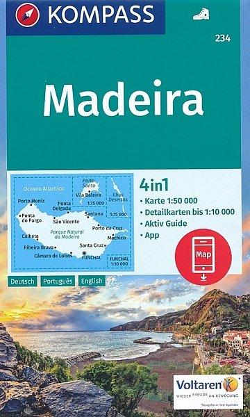 KP-234 Madeira | Kompass wandelkaart 9783990442685  Kompass Wandelkaarten   Wandelkaarten Madeira