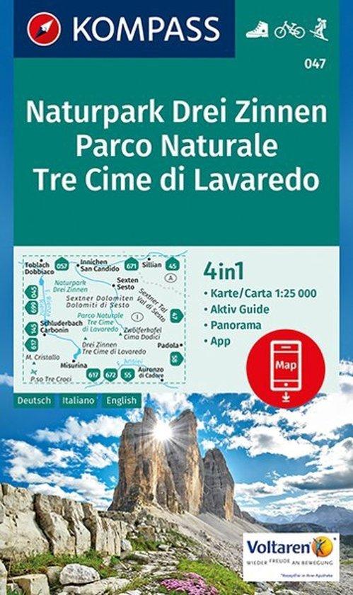 KP-047 Drei Zinnen / Tre Cime di Lavaredo | Kompass wandelkaart 9783990442753  Kompass Wandelkaarten   Wandelkaarten Zuidtirol, Dolomieten, Friuli, Venetië, Emilia-Romagna