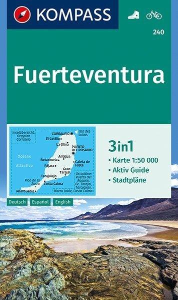 KP-240 Fuerteventura 1:50.000 | Kompass wandelkaart 9783990443248  Kompass Wandelkaarten   Landkaarten en wegenkaarten, Wandelkaarten