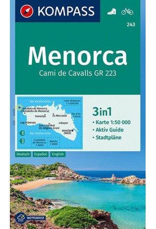 KP-243  Menorca 1:50.000 | Kompass wandelkaart 9783990443828  Kompass Wandelkaarten   Wandelkaarten Menorca